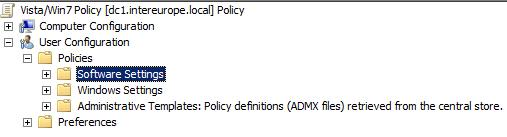 ADMX Files being loaded from the Central Store