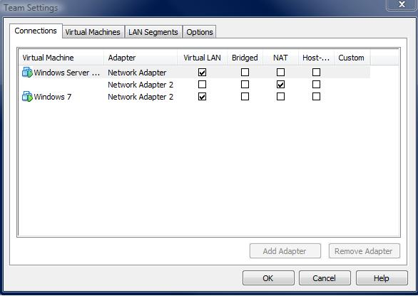 My VMware Team Network Configuration