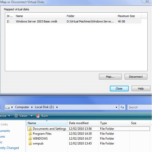 How to Mount a VMware Virtual Disk in Windows - monkeydust net
