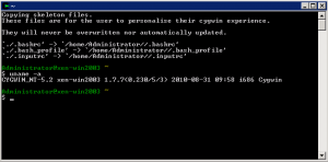 Cygwin Command Prompt